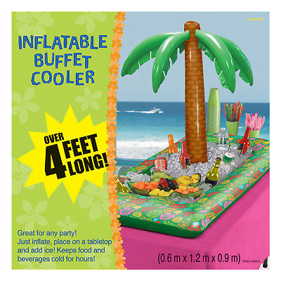 4ft Inflatable Palm Tree Food Drink Beer Cooler Hawaiian Beach Party Decoration