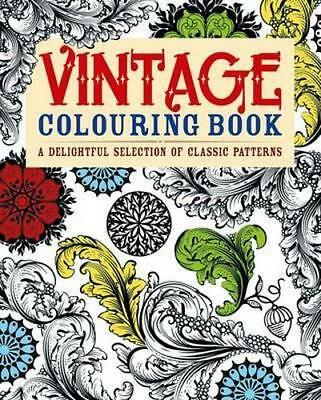 NEW Vintage Colouring Book By Arcturus Publishing Paperback Free Shipping