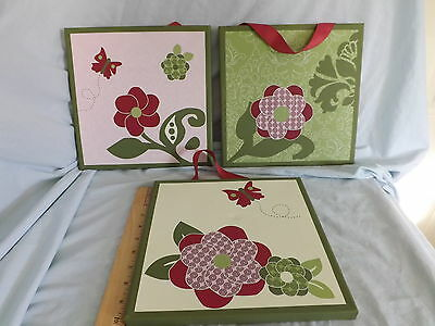 Angelica Canvas Art Nursery Decor Floral Set of 3 Wall Hangings Cocalo Baby
