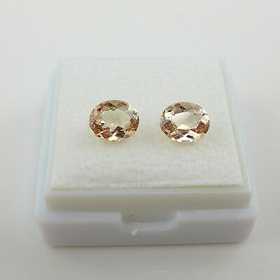 1.64 ct. Edles Paar 7.1 x 5.6 mm Madagaskar Morganite (Pink Smaragd)
