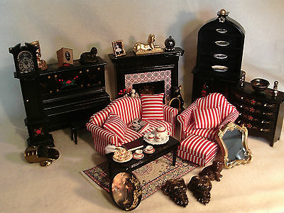 Dolls House Furniture 12th Scale mixed lot Lounge