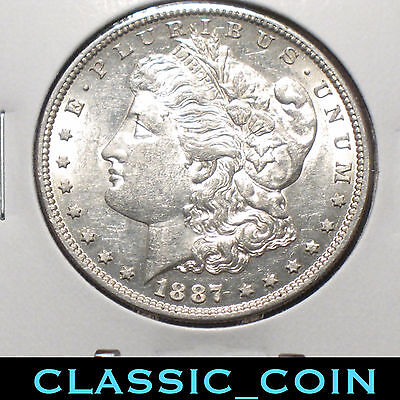 1887-S Morgan Silver Dollar $1 Au/unc Details 131 Years Old Free S/h