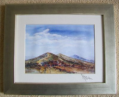 Signed Print from Original Painting of The Malvern Hills By Peter Wale Framed