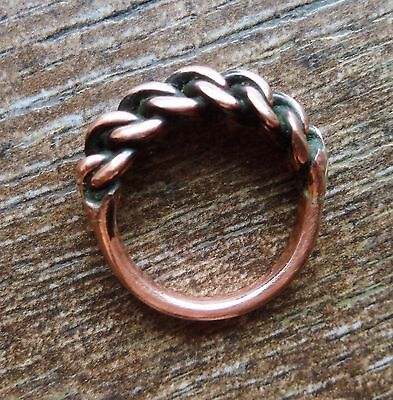 Ancient Viking  Copper Twisted Ring (467) .