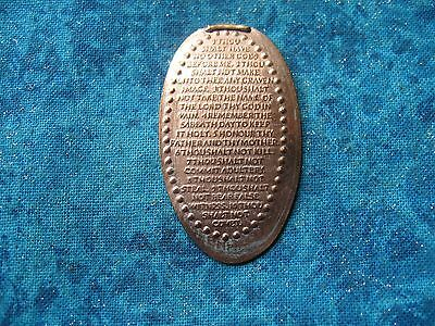TEN 10 COMMANDMENTS Elongated Penny Pressed Smashed 28