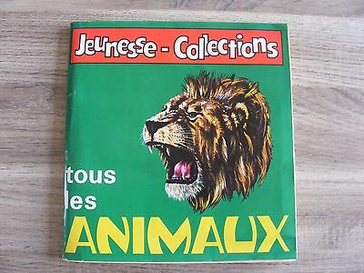 jeunesse-collections animaux ALBUM PANINI COMPLET 1970