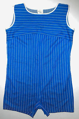 Vtg 60s 1 pc Bathing Swim Suit SINGLET Wrestling BRODERICK Gym Workout Mens : 38