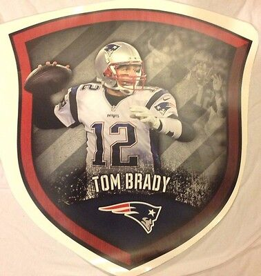 20  x 19  TOM BRADY #12 Mural Shield FATHEAD New England Patriots Wall & NEW ENGLAND PATRIOTS Wall Decal ~ Vinyl Graphics ~ STICKER - $11.99 ...