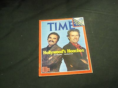 1978 January 9 Time Magazine - Burt Reynolds & Eastwood - Front Cover - A1316