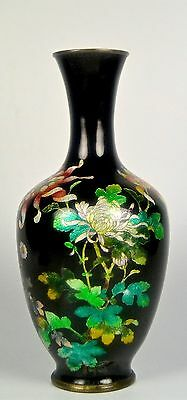 High Quality Fine Silver Wire Antique Japanese Meiji Partial Ginbar Cloisonne