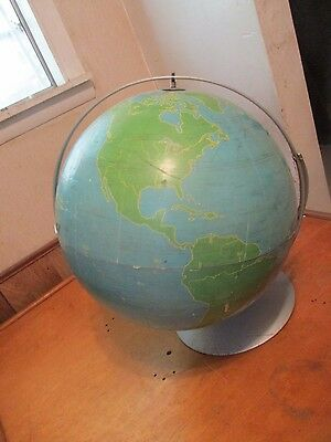 Vintage Nystrom & Co.Military Transportation Metal Graphic Project Globe