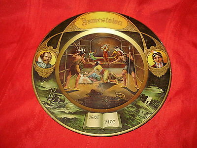 1907 - JAMESTOWN EXPOSITION - Beautiful Lithographed Tin Tray
