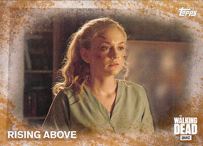 2016 Topps The Walking Dead Season 5 Rust Parallel Card #21 Rising Above 05/99