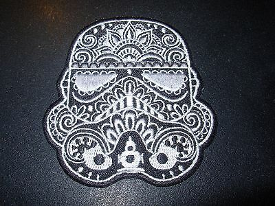 STAR WARS Stormtrooper Muerto Logo Embroidered Patch iron on not cd lp COOL