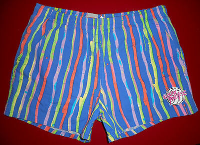 Vtg 80s OP Swim Trunks * BLUE * Ocean Pacific Volleyball Cotton Shorts Mens : Lg