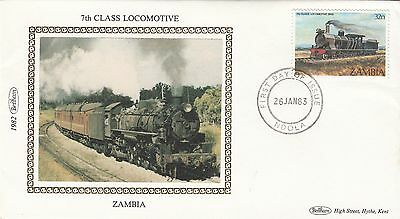 (00856) Zambia Benham FDC 7th Class Locomotive 26 January 1983