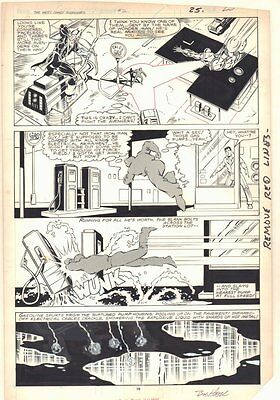 West Coast Avengers #2 p.19 - Hawkeye, Iron Man, & Mockingbird art by Bob Hall