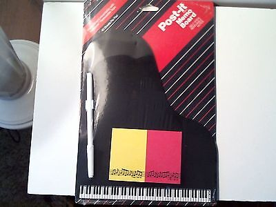 New Memo Board Post-It Holder Sticky Note ( Piano Board W/ Music Notes )
