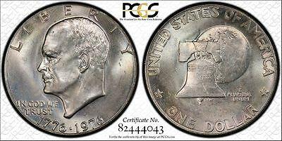 1976-D  Type 1 Ike Eisenhower Dollar in Secure Plus PCGS  MS64 ~Very Nice!~