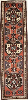 Geometric Palace Runner Ardebil Heriz Persian Rug Oriental Area Carpet 3'7X13'3