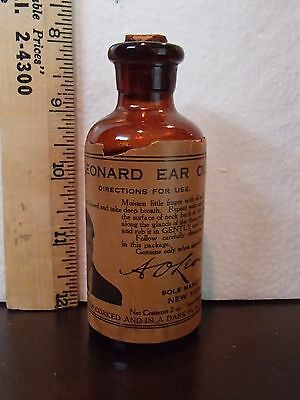 Vintage Quack Medicine Bottle With Label
