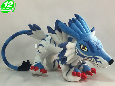 12'' Digimon Adventure Garurumon Plush Doll Toy Game Anime Stuffed PNPL8026