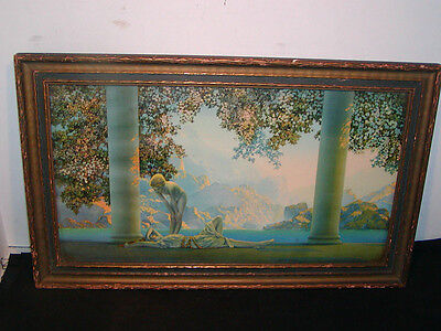 "Antique MAXFIELD PARRISH Early 1900s ""DAYBREAK"" - House of Art, NY. All Original"