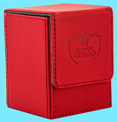 ULTIMATE GUARD XENOSKIN FLIP DECK CASE Standard Size RED 100+ Game Card Box