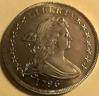 Gallery Mint Museum - 1796 Draped Bust Silver Dollar - Brilliant Uncirculated!