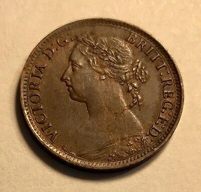 GREAT BRITAIN - Queen Victoria - Farthing - 1884 - NICE - See Images!