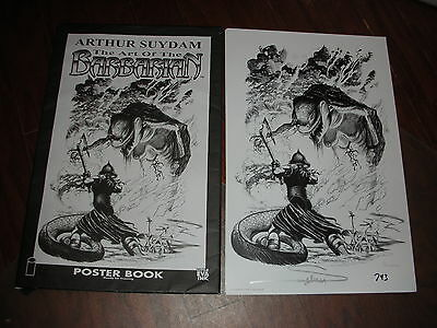 Arthur Suydam Signed #743~Art Of The Barbarian 10 Lrg Plate Prints & Conv Poster