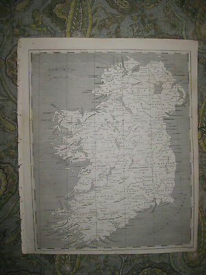Rare Antique 1805 Ireland Copperplate Arrowsmith & Lewis Map Fine Condition Nr