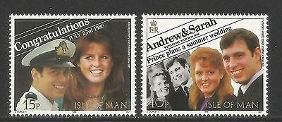 Isle of Man 1986 Royal Wedding/Prince Andrew--Attractive Topical (314-15) MNH