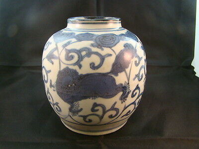 Chinese Ming Dynasty (1368-1644 AD) nice blue white jar  p6481
