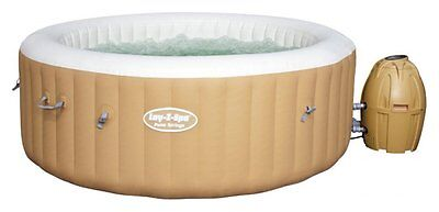 Bestway Lay-Z-Spa Palm Springs 6 Person Round Inflatable Heated Hot Tub - Bronze