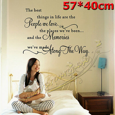 The Best Things In Life Quote Wall Lettering Words Sticker Vinyl Art Decal Decor