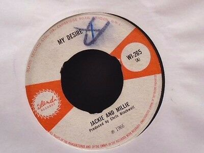 """JACKIE AND MILLIE """" MY DESIRE """" Or.UK ISLAND  """" VG + COND.."""