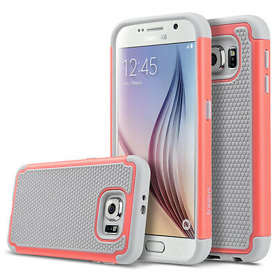 For Samsung Galaxy S6 Slim Hybrid Rugged Rubber Hard Shockproof Phone Cover Case