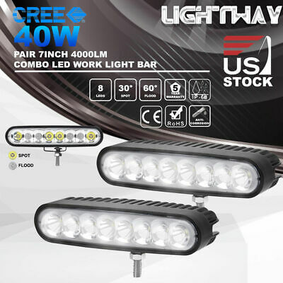 20inch 392W Philips LED Work Light Bar Spot Flood Combo Driving VS 5D 7D TRI ROW