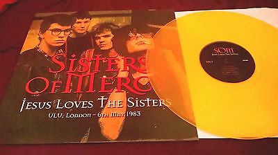 The Sisters Of Mercy – Jesus Loves The Sisters RARE YELLOW VINYL LP near mint