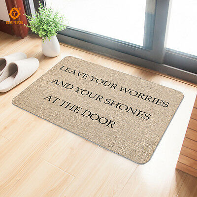 3D Printed English Words Bathroom Carpet Anti-slip Rubber Door Entrance Mats