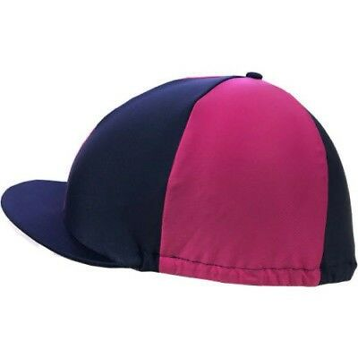 Horse Riding Hat Cover - Stretch one size - Navy/Pink - SHIRES