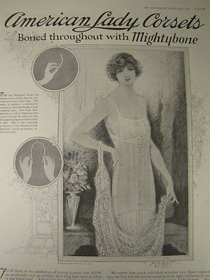 Antique March 1920 American Lady Corsets Full-Page Magazine Advertisement