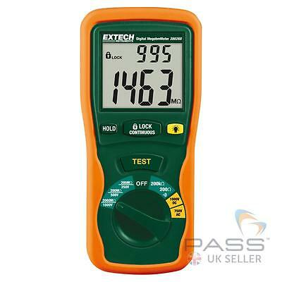 NEW Extech 380260 Autoranging Portable, handheld Digital Megohmmeter - UK Stock