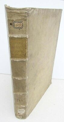 1730 ANTIQUE VELLUM FOLIO of NEW TESTAMENT BIBLE COMMENTARY in LATIN by A.CALMET