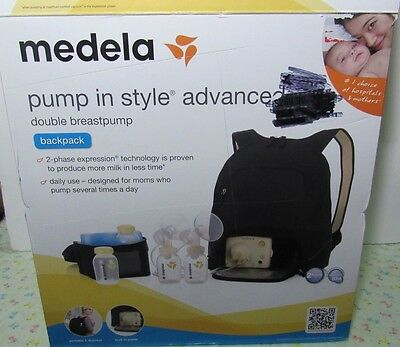 Medela Pump in Style Advanced Double Breastpump Backpack OPEN BOX NO TOTE/ICE PK