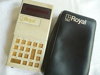 Calculator hand held ROYAL LITTON I.C.-90 Imperial typewriters model .. 2