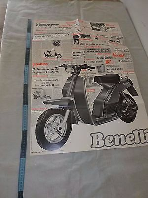 Benelli s 50   , 1980s    POSTER  70 cm  Advertising