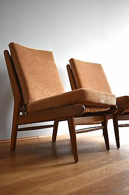 Pair Vintage MID 20TH Century LOUNGE CHAIRS by SCANDART Danish Chairs