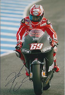 RARE Nicky HAYDEN SIGNED Autograph MotoGP Ducati 12x8 Photo AFTAL COA In Person